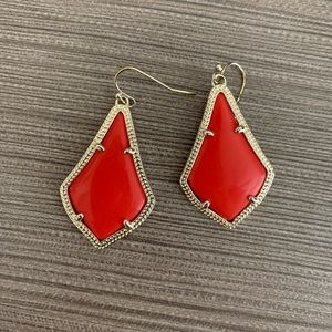 NWOT Red Alex Kendra Scott Earrings